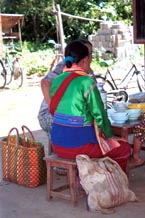 to Jpeg 79K Silver Palaung woman taking a break at the 5 day rotating market in Kalaw, southwestern Shan State
