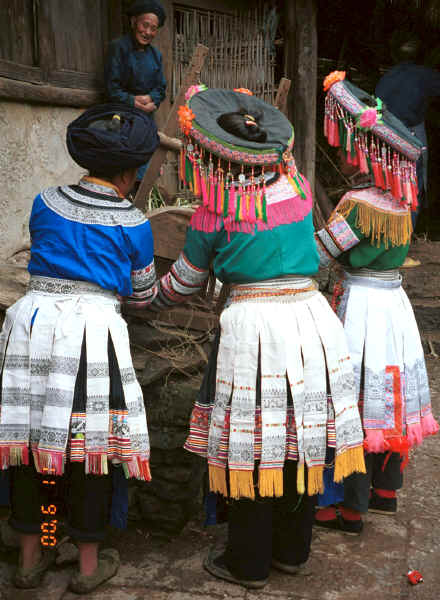 Back view of Miao women - Chang Tion village, Cheng Guan township, Puding county, Guizhou province 0010w19.jpg