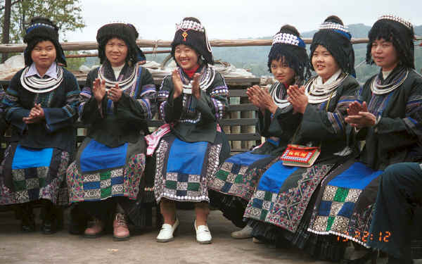 Black Miao young women - Dai Lo village, Shi Zi township, Ping Ba county, Guizhou county 0010z20.jpg