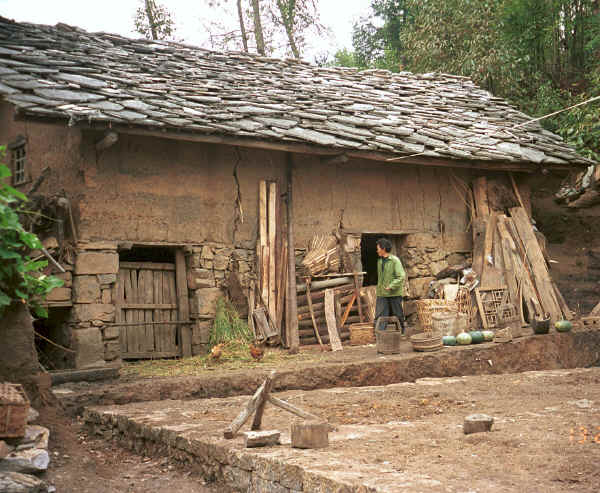 House in Dai Lo village, Shi Zi township, Ping Ba county, Guizhou county 0010za10.jpg