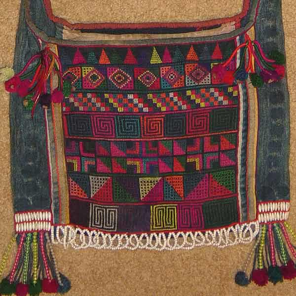 49K Jpeg Hani embroidered and trimmed bag, Menghai county, Yunnan province, southwest China