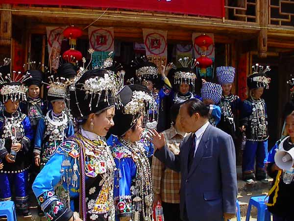 Jpeg 57K Festival in Songtao Miao Autonomous County, Tongren Prefecture, Eastern Guizhou Province, 9 May, 2004.
