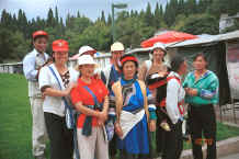 Jpeg 38K The Sani traders against whom we enjoyed pitting out wits - Stone Forest, Shilin, Stone Forest county, Yunnan province 0010b10.jpg