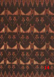 to 86K Jpg - detail of manta ray motif from Theorara's sarong. This motif is unique to the Lamalera area