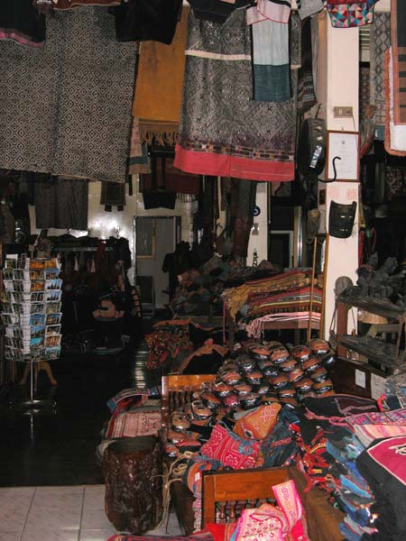Jpeg 57K The crammed interior of Kesorn Arts, the tribal artifacts shop of Kesorn and Bucklee Bell in Chiang Mai  3398