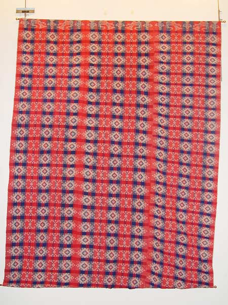 70K jpg 01 - Itneg cotton blanket, Northern Luzon, early 20th century - 170 cm x 230 cm