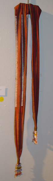 56K Jpg 13 - Gadang woman's cotton sash with European beads, Northern Luzon, early 20th century. 216 cm x 8 cm