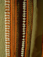 to 67K Jpg 13 - Detail 1 of Gadang woman's cotton sash with European beads, Northern Luzon, early 20th century. 216 cm x 8 cm