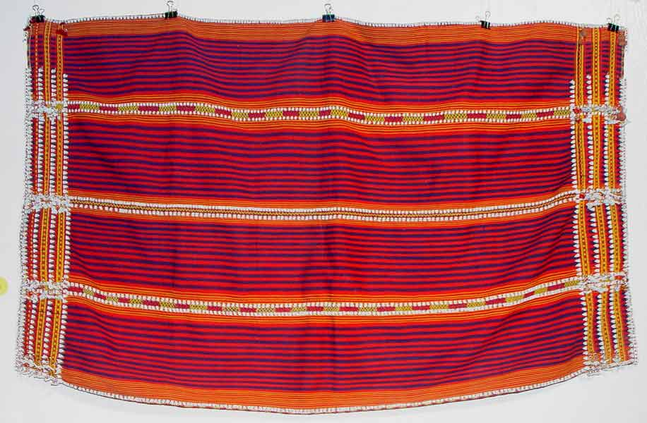67K Jpg 15 - Gadang women's cotton and beaded skirt, Paracelis Mountain Province, Northern Luzon, 20th century. 99 cm x 53.5 cm