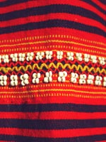 to 64K Jpg 15 - Detail 1 of Gadang women's cotton and beaded skirt, Paracelis Mountain Province, Northern Luzon, 20th century. 99 cm x 53.5 cm