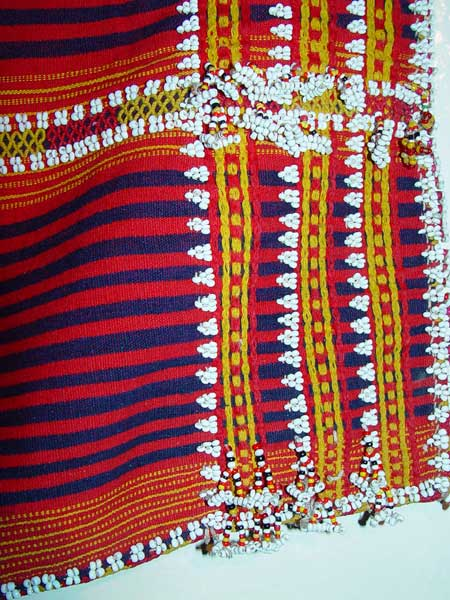 70K Jpg 15 - Detail 2 of Gadang women's cotton and beaded skirt, Paracelis Mountain Province, Northern Luzon, 20th century. 99 cm x 53.5 cm