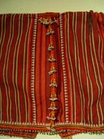 to 69K Jpg 17 - Detail 1 of Gadang woman's cotton jacket, Paracelis Mountain Province, Northern Luzon, early 20th century. 108 cm (incl. sleeves) x 31 cm