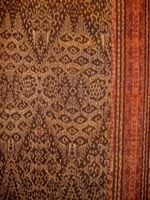 to 73K Jpg 23 - Detail 3 of Tboli woman's abaka and ikat dress, Mindanao, early 20th century. 54 cm x 182 cm
