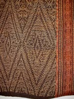 to 73K Jpg 23 - Detail 4 of Tboli woman's abaka and ikat dress, Mindanao, early 20th century. 54 cm x 182 cm