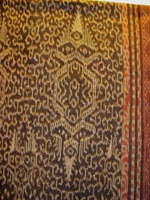 to 80K Jpg 23 - Detail 2 of Tboli woman's abaka and ikat dress, Mindanao, early 20th century. 54 cm x 182 cm