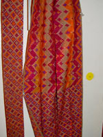 to 80K Jpg 24 - Detail of cotton sash with multi-colored ikat design, Mindanao, late 19th to early 20th century.