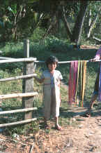to Jpeg 28K Young Sgaw Karen girl wearing a traditional woven cotton shift 8812o32.jpg