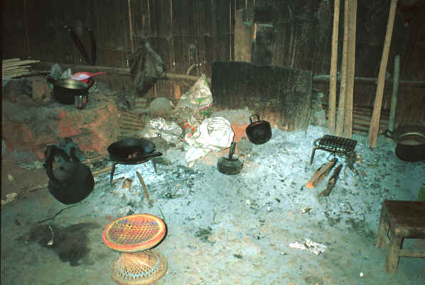 Inside a Yao house, showing the hearth, in a village in the hills around Chiang Rai 8812q13.jpg